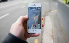 Pokemon Go being played on a mobile