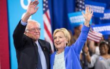 Bernie Sanders endorsed Hillary Clinton at a rally in New Hampshire.