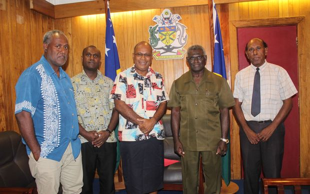 From L to R; Secretary to MSG Chair,  Rence Sore, Legal Adviser to