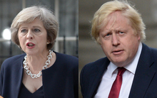 Theresa May, left, has named Boris Johnson Foreign Minister