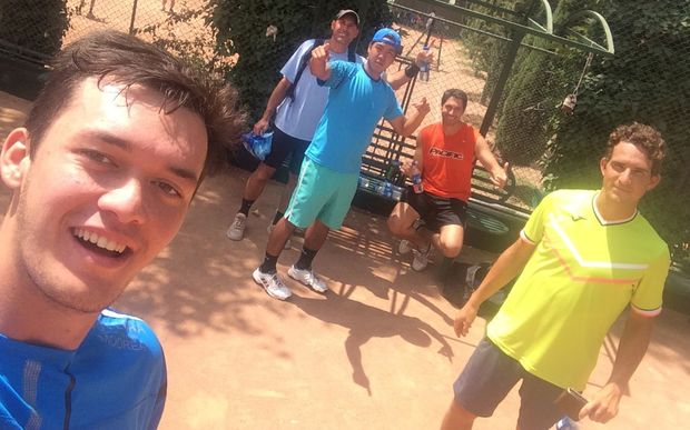 The Pacific Oceania tennis team in Iran.