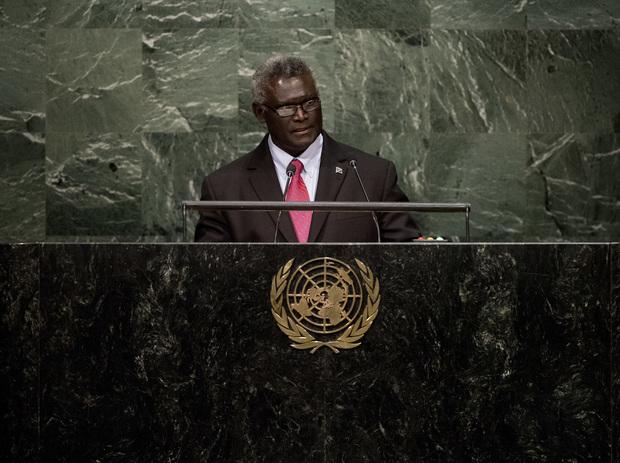 The Prime Minister of Solomon Islands Manasseh Sogavare