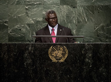 The Prime Minister of Solomon Islands Manasseh Sogavare