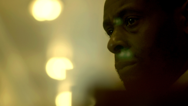 David Harewood as Abe in Jake Mahaffy's Free in Deed