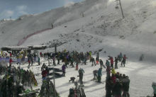 Coronet Peak was popular at 1pm today.