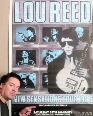 Martin Phillipps of The Chills and 'Lou Reed 1985'.