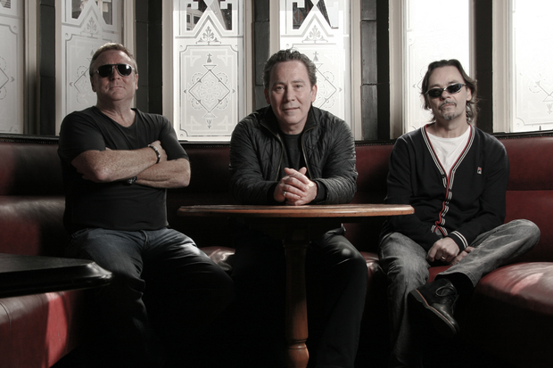 UB40 members Brian Travers (sax) Robin Campbell (guitar) and Jim Brown (drums).