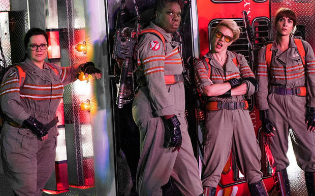 Melissa McCarthy, Leslie Jones, Kate McKinnon and Kristen Wiig feature in the latest Ghostbusters remake.