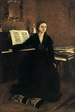 Madame Camus at the Piano, by Edgar Degas, 1869