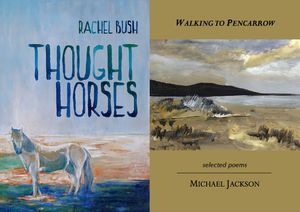 .Covers of Thought Horses and Walking to Pencarrow