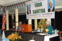 Faoa Aitofele Sunia and Larry Sanitoa American Samoa candidates for governor and lieutenant governor.