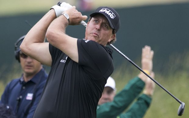 British Open leader Phil Mickelson
