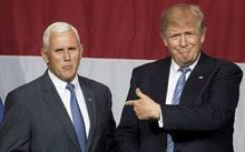 Donald Trump (R) has named Mike Pence as his vice presidential running mate.