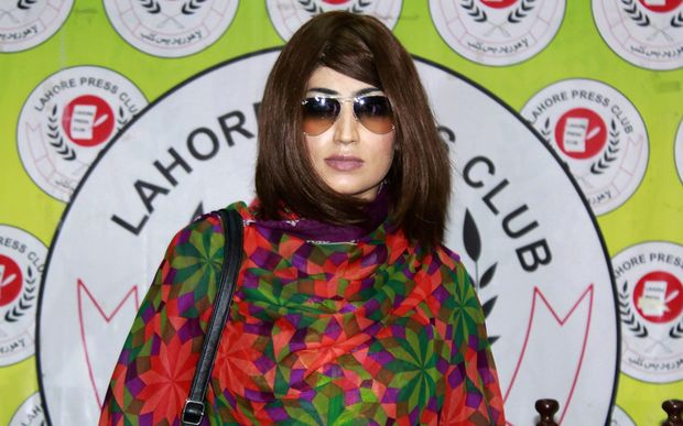Pakistani social media celebrity, Qandeel Baloch arrives for a press conference in Lahore on June 28, 2016.