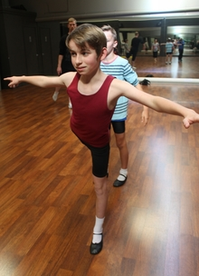 An image of Ben Shieff, 13, from Auckland, who will play the role of Billy Elliot.
