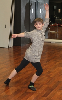 An image of Stanley Reedy, 14, from Westport who performs the role of Michael.