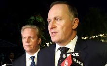 Prime Minister John Key, right, and Trade Minister Todd McClay in Indonesia.