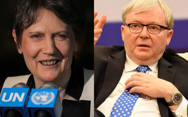 Helen Clark and Kevin Rudd