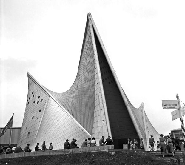 The Philips Pavillion at Expo 58 in Brussels.