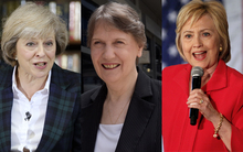 Theresa May Helen Clark and Hillary Clinton