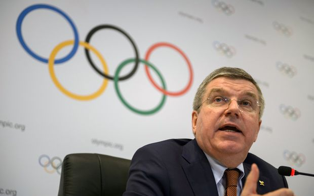 International Olympic Committee president Thomas Bach speaks to the media at the end of an IOC Executive Board meeting in Rio de Janeiro, Brazil, 28 February 2015