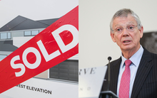 A sold sign and Reserve Bank governor Graeme Wheeler.