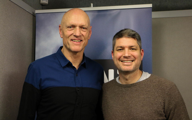 Peter Garrett and Jesse Mulligan