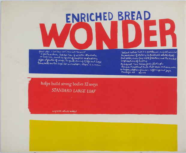 Wonder Bread (1965) by Sister Corita Kent