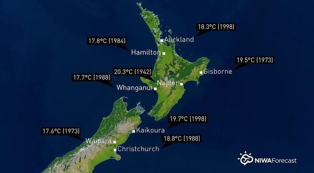 New Zealand Weather Map.Spring Like Weekend Weather Forecast Rnz News