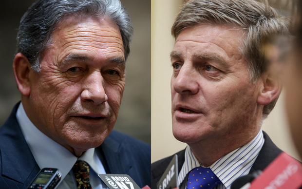 Winston Peters, left, and Bill English