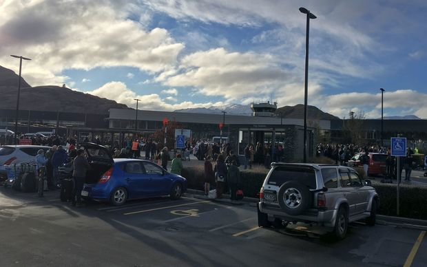 Hundreds were evacuated from Queenstown airport after a bomb scare.
