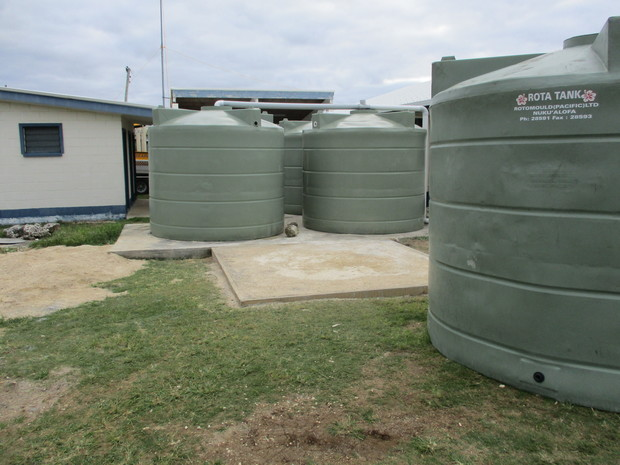 Nine water tanks were installed under the Tropic Twilight exercise including these at Pangai fire and police station.