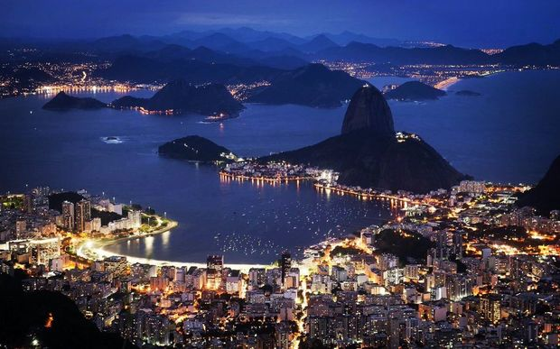 Rio at night.