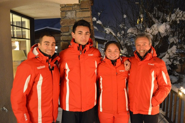 Tonga Ski Team (from left) Director Steve Grundmann, Reinhard Langer, Dyan Wackerbauer and coach Herman Aigner.