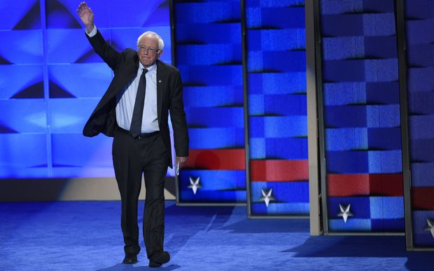 Bernie Sanders urged his supporters to back Hillary Clinton.