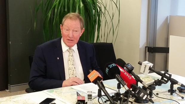 Housing Minister Nick Smith speaks to reporters after the release of the revised version of the Auckland Unitary Plan.