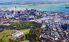 A photo of Auckland taken from the air