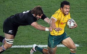 Former Wallabies winger Digby Ioane on the burst against the All Blacks in 2011.