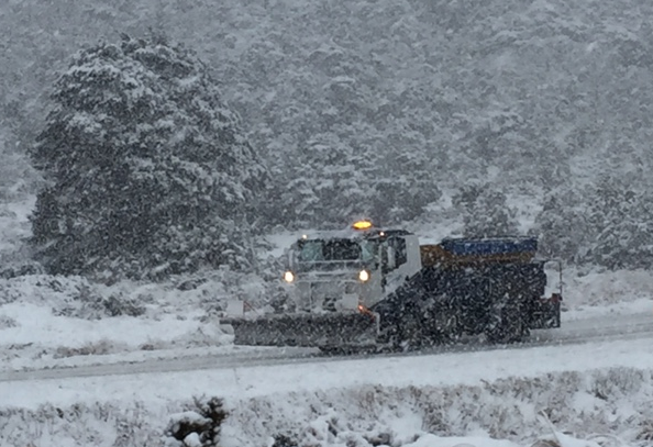 Snow on Lewis Pass on Thursday 28 July