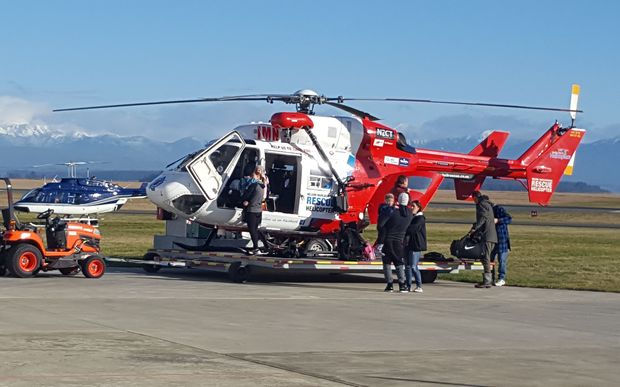 The group was flown out of Kahurangi National Park to Nelson this morning.