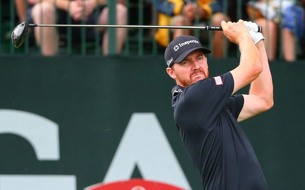 30 JUL 2016: Jimmy Walker tees off at the 1st hole of the final round of the 98th PGA Championship played at Baltusrol Golf Club in Springfield,NJ.