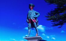 The statue of Captain Cook near the Turanganui rivermouth was the latest to be vandalised.