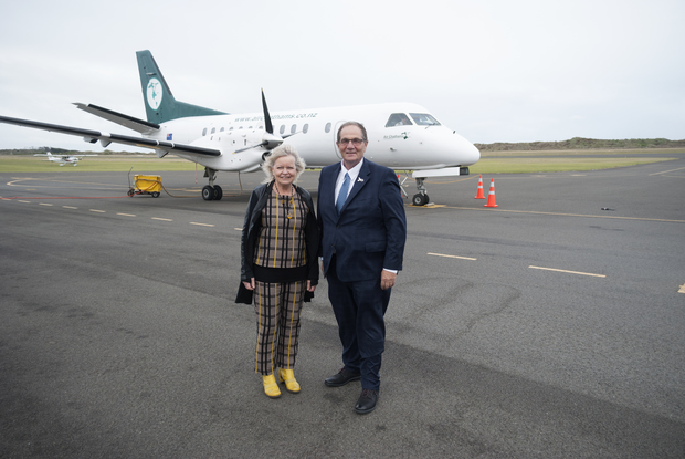 Whanganui mayor Annette Main and MP Chester Borrows.