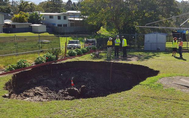 A Sinkhole That Opened Up In An Australian Backyard.