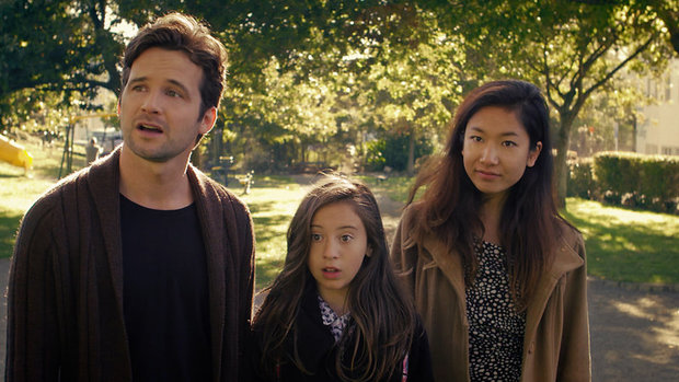 Hayden Weal, Nova Waretini-Hewison and Michelle Ny in the local micro-budget sci-fi rom-com thriller Chronesthesia