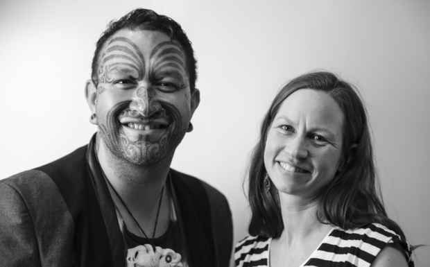 Rob Ruha and RNZ Music's Kirsten Johnstone