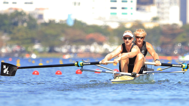 Hamish Bond and Eric Murray compete at the Rio Olympics.