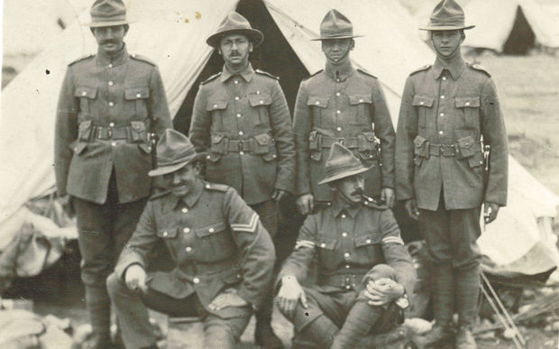 New Zealand soldiers in the Middle East during WWI.