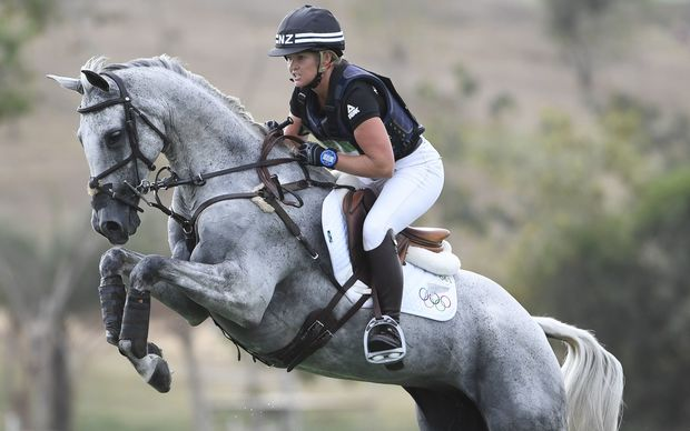 Jonelle Price on Faerie Dianimo competes in the Eventing's Individual Cross Country.