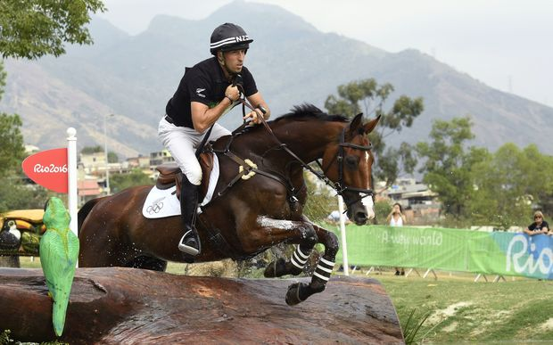 New Zealand's Tim Price was eliminated after his horse Ringwood Sky Boy fell.